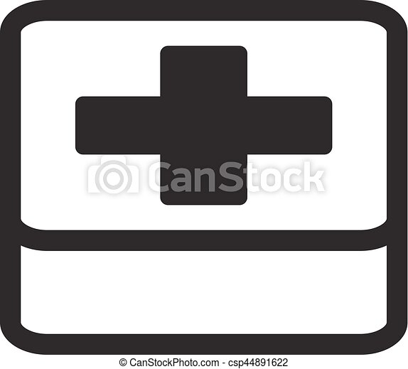 First Aid Symbol Flat Design Isolated On White