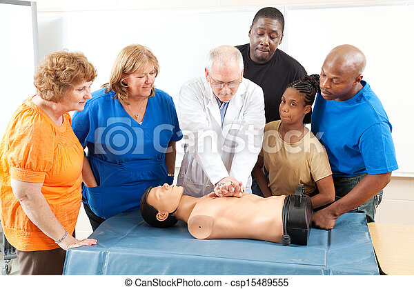 First Aid Training for Adults - csp15489555