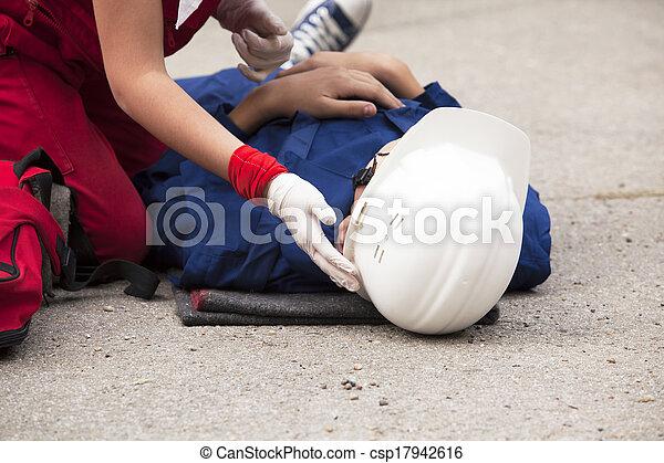 First aid training - csp17942616