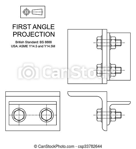 First Angle Orthographic Projection 33782644 also Fashion Sketch Shirt Collars Cuff Outline 342490289 besides Bugatti Car Logo furthermore Showthread furthermore Graphic  munication Flash Cards. on third angle projection icon