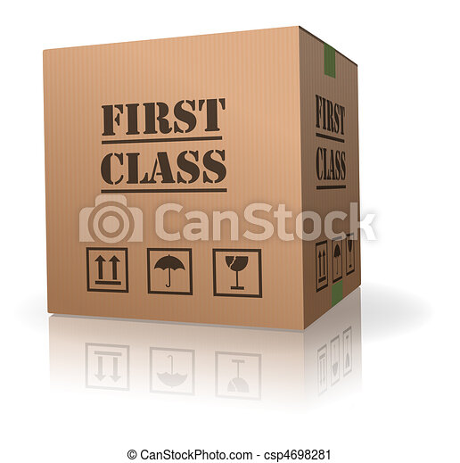 first class delivery or shipment - csp4698281