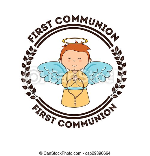 first communion design vector illustration eps10 graphic clip art rh canstockphoto com first communion clip art free download first communion clip art free catholic