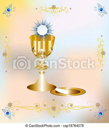 first communion,  - csp18764078
