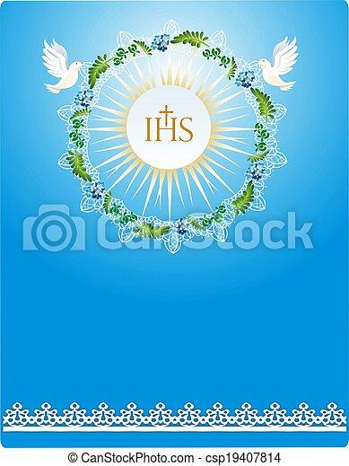 first communion,  - csp19407814