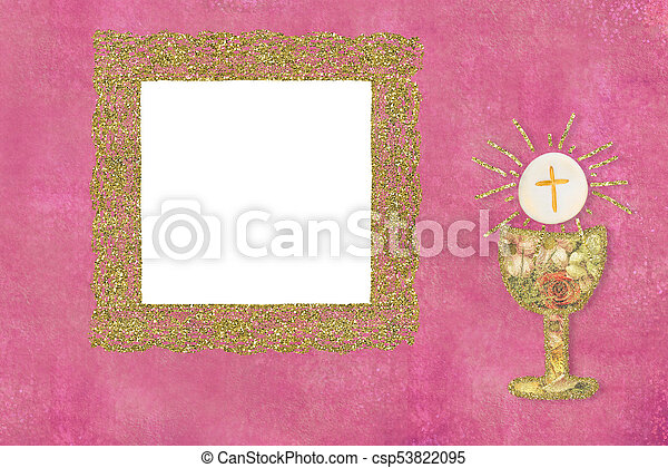 First Holy Communion Photo Frame Card First Holy Communion Frame