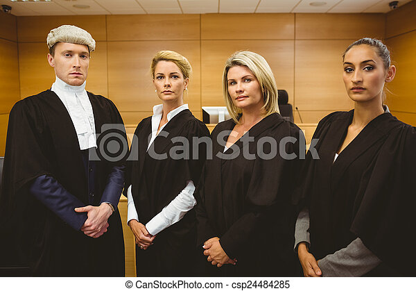 First judge standing while wearing  - csp24484285