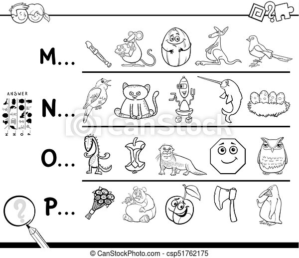 First Letter Of A Word Coloring Page For Kids