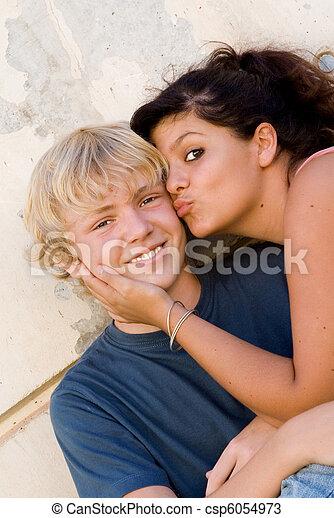 Strange women teen kissing amusing moment