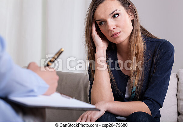 First meeting with psychotherapist - csp20473680