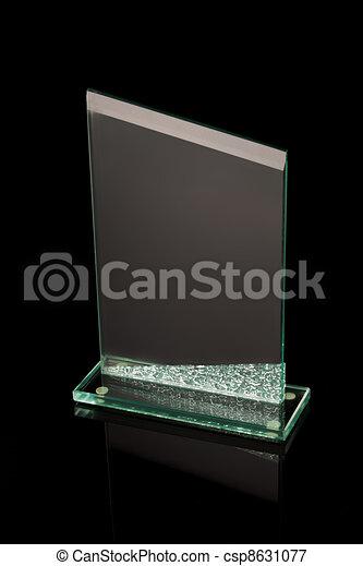 first place award glass trophy - csp8631077