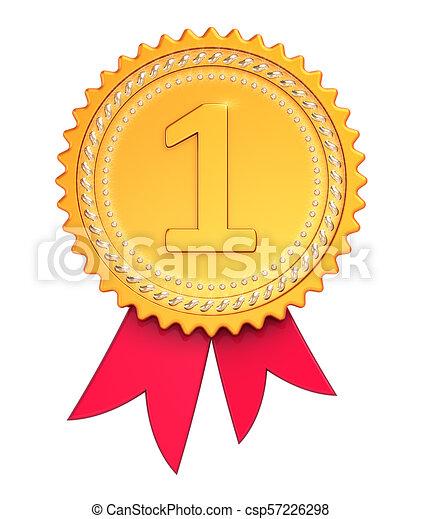 first place award ribbon medal golden red winner icon first place award ribbon medal golden red winner reward number one https www canstockphoto com first place award ribbon medal golden 57226298 html