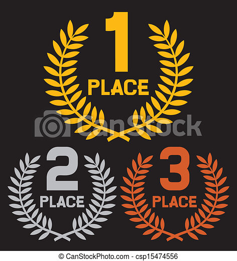 first place, second place and third - csp15474556