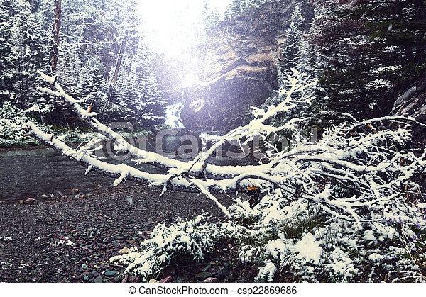 First snow - csp22869686