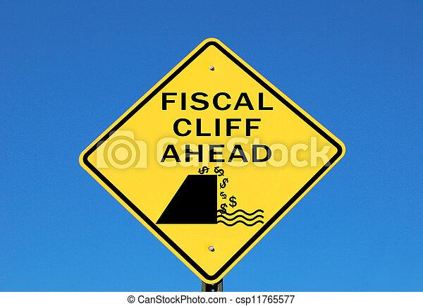 Fiscal cliff  - csp11765577
