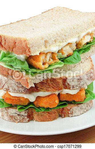 Fisch-Finger-Sandwich-Einheit - csp17071299