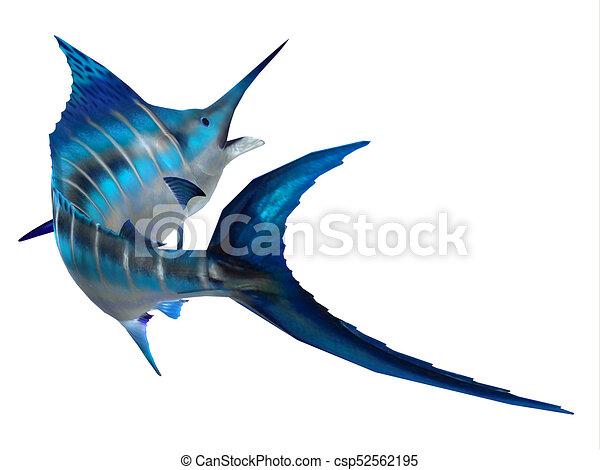 fischen schwanz, marlin