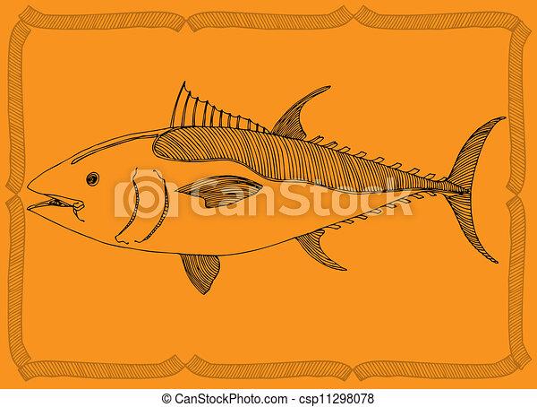 fish, 図画 - csp11298078