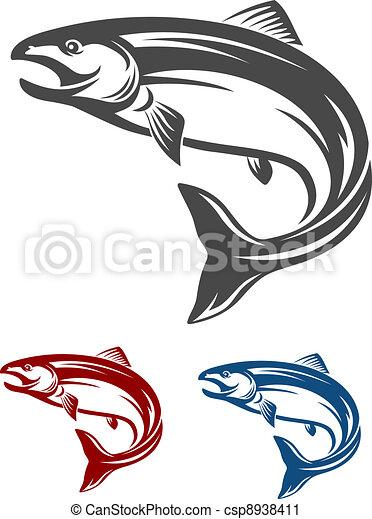 fish, 鮭 - csp8938411