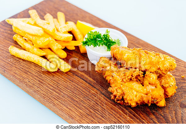 Fish and chip with french fries - csp52160110