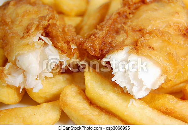 Fish and chips - csp3068995