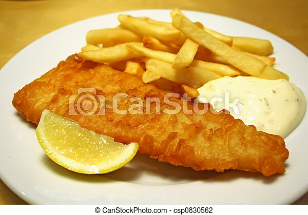 Fish and chips - csp0830562