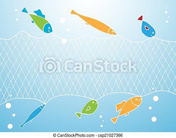 Net fishing clipart