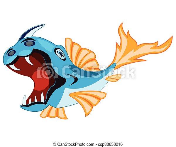 fish, blanc, cruche - csp38658216