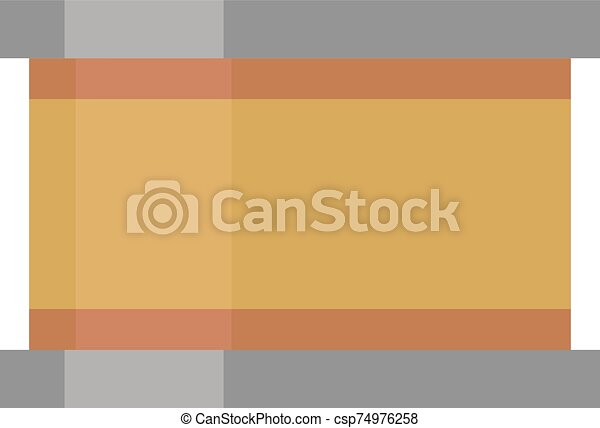 Fish can, illustration, vector on white background. - csp74976258