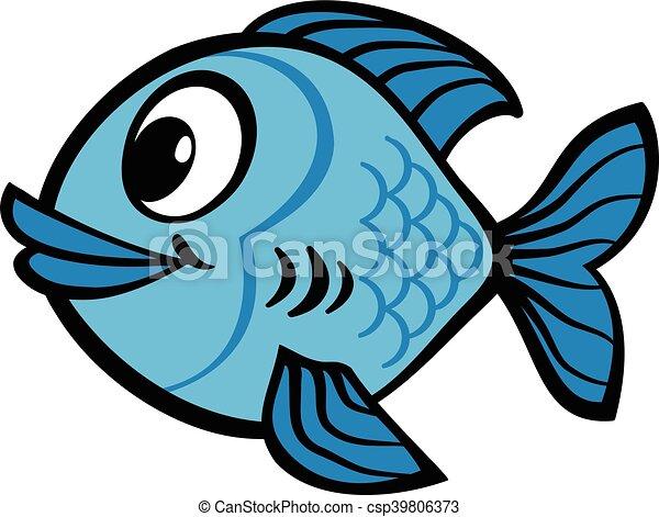 fish cartoon vector icon rh canstockphoto com fish cartoon images free fish cartoon images free download