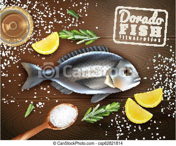 fish, cuisine, illustration - csp62821814