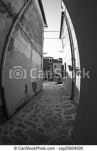 Fish-eye view of Traditional Buildings in Venice, Italy - csp25604000