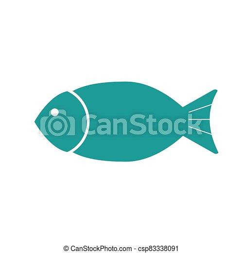 Fish flat icon. Isolated on white background. Vector illustration. - csp83338091