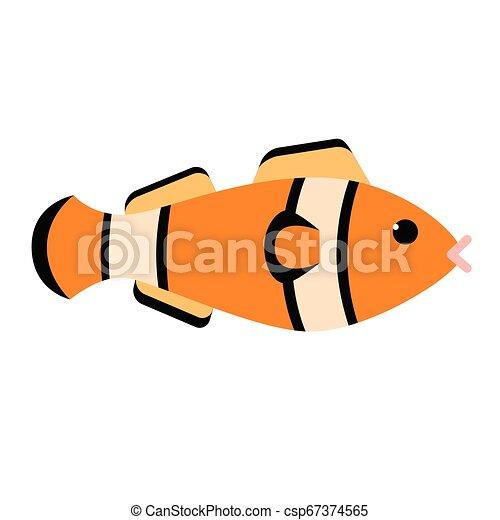 Fish flat illustration on white - csp67374565