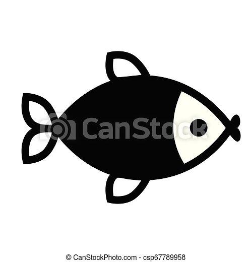 Fish flat illustration on white - csp67789958