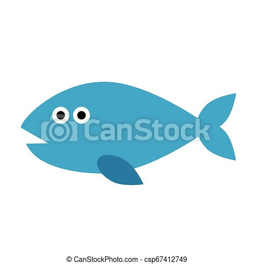 fish flat illustration on white - csp67412749