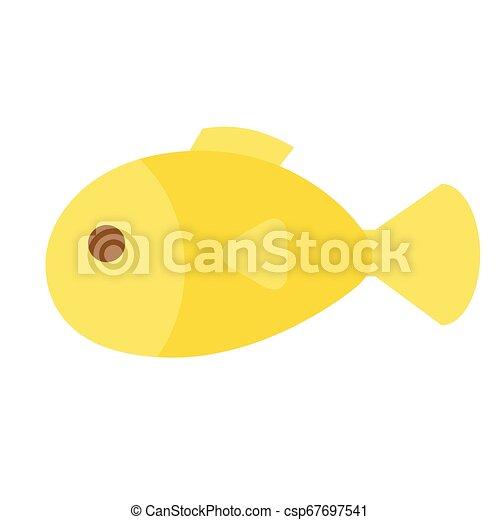 fish flat illustration on white - csp67697541