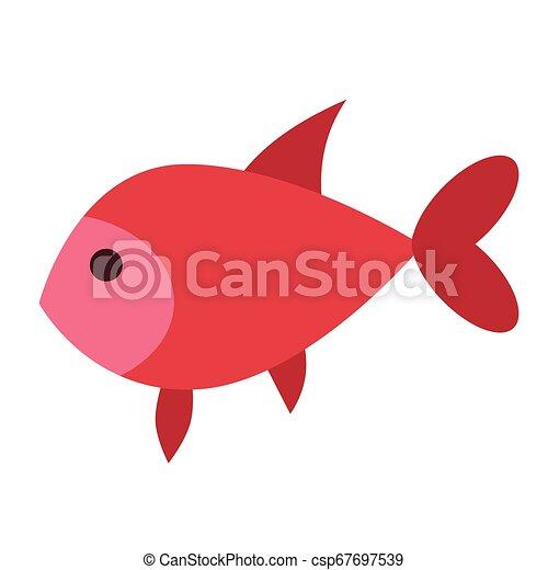 fish flat illustration on white - csp67697539