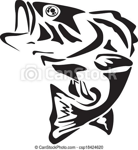 Fish icon - csp18424620