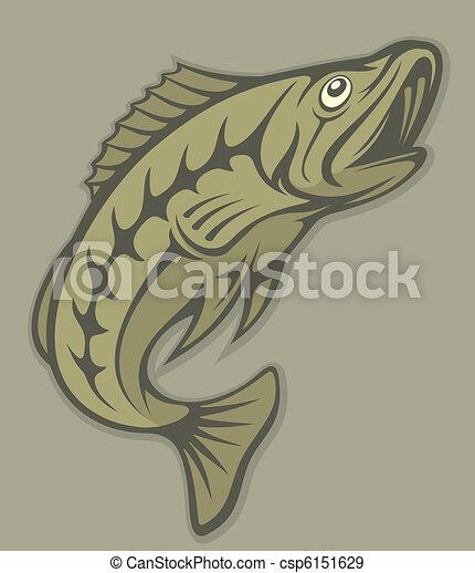 Fish lineart - csp6151629