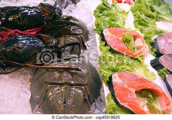 Fish Market Counter - csp45918625