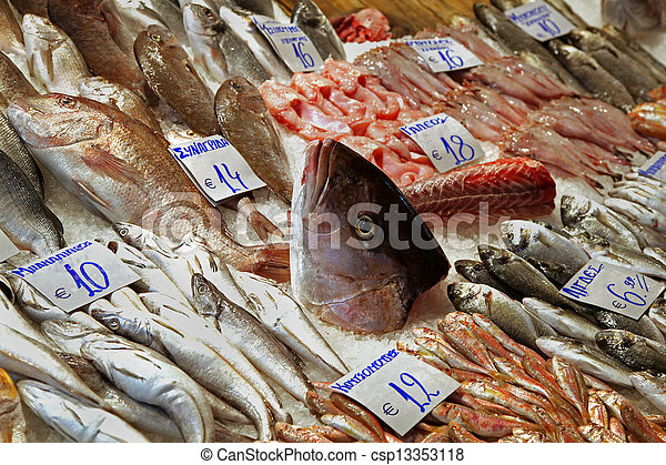 fish market freshly cought sea fish sold on market stall Cute Shrimp Clip Art Clam Clip Art