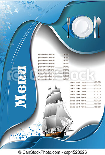 fish, menu, restaurant, (cafe) - csp4528226