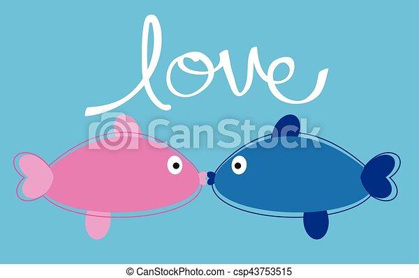 fish, miłość - csp43753515