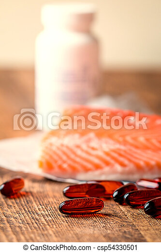 Fish oil capsules with omega 3 - csp54330501