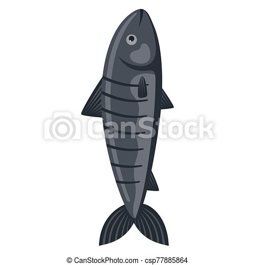Fish on a white background - csp77885864