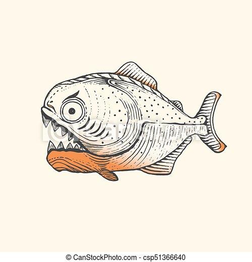fish, piranha, amazon - csp51366640