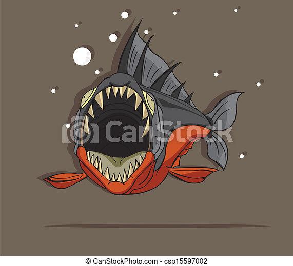 fish, piranha - csp15597002