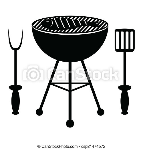 Fish roast on the barbecue grill - csp21474572
