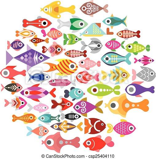 Fish rond ic nes illustration ic nes isol for Achat aquarium rond