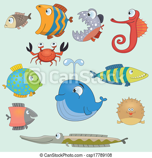 Fish set - csp17789108
